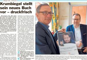 Krumbiegel stellt sein neues Buch vor - druckfrisch